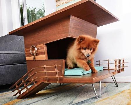 casas para perros de madera modernas