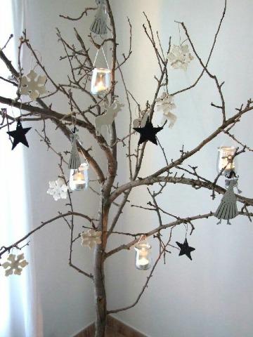 Originales ideas de como decorar un arbol seco - Ramas de arbol para decoracion ...