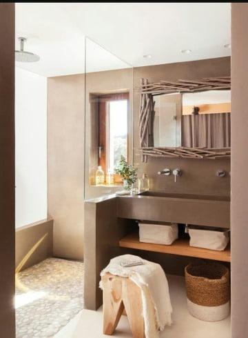 como hacer espejos de madera para baños