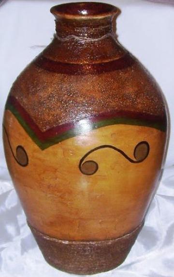 como hacer jarrones de barro decorados