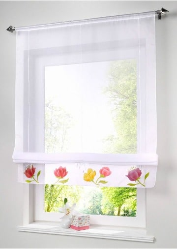 cortinas para ventanas pequeñas de cocina