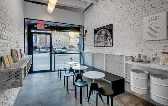 decoracion de cafeterias pequeñas minimalistas