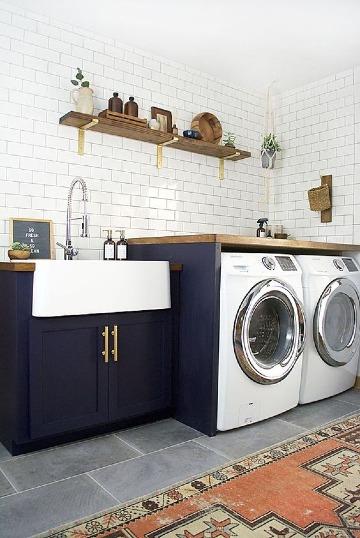 diseños de muebles para cuarto de lavado