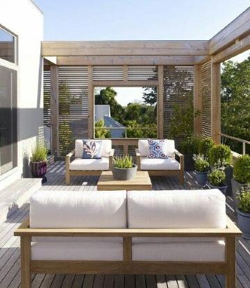 diseños de terrazas de casas abiertas