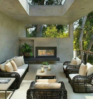 diseños de terrazas de casas modernas