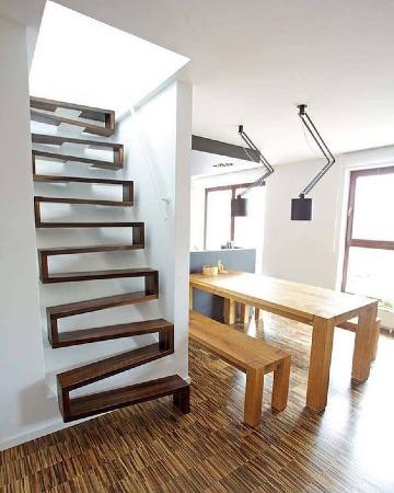 escaleras de madera rusticas modernas