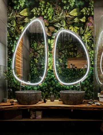 espejos decorados para baños modernos