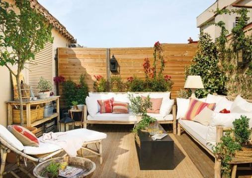 fotos de terrazas con piso de madera