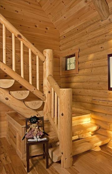 ideas de escaleras de madera rusticas