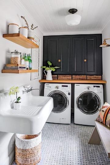 ideas de muebles para cuarto de lavado