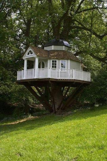 imagenes de casas de madera en arboles