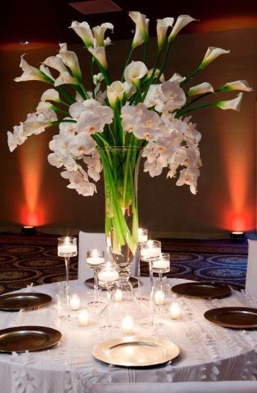 imagenes de centros de mesa con floreros