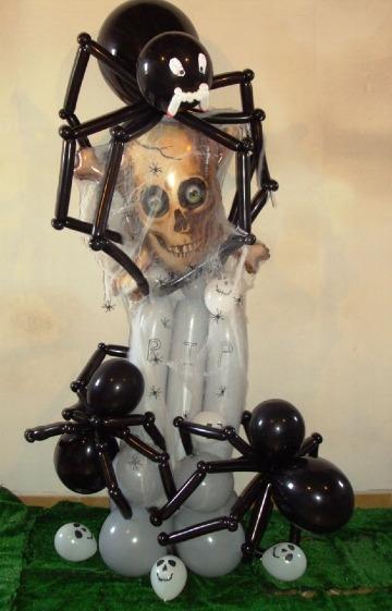 imagenes de como hacer arañas con globos