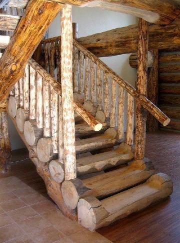 imagenes de escaleras de madera rusticas