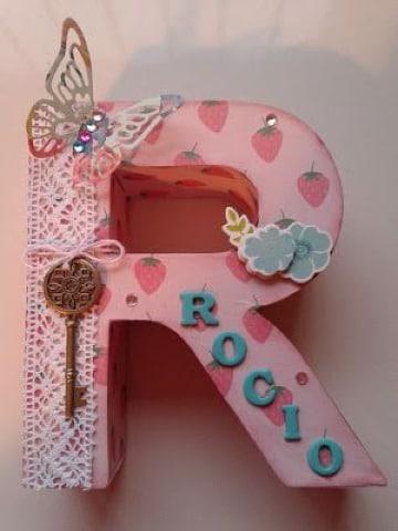 imagenes de letras de carton decoradas