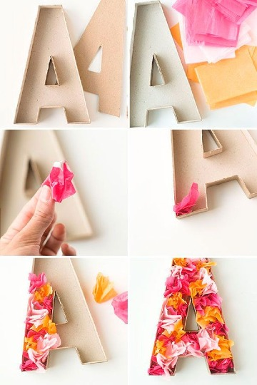 letras de carton decoradas facil