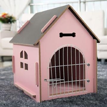 modelos de casas para perros de madera
