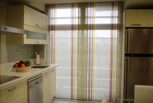 modelos de cortinas para puertas de cocina