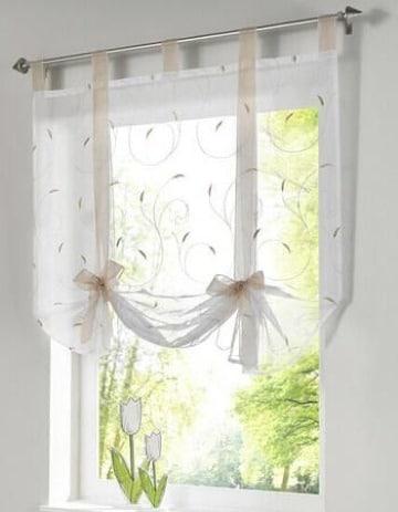 ideas originales de cortinas para ventanas peque as. Black Bedroom Furniture Sets. Home Design Ideas