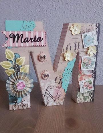modelos de letras de carton decoradas