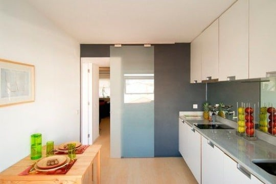 puertas para entrada de cocina de vidrio