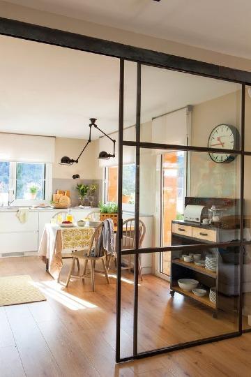 puertas para entrada de cocina modernas