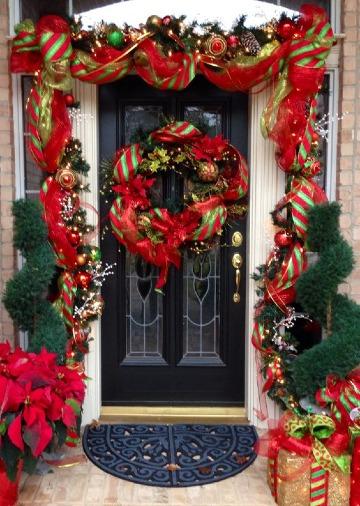 Ideas En Arreglos De Navidad Para Puertas Y Ventanas