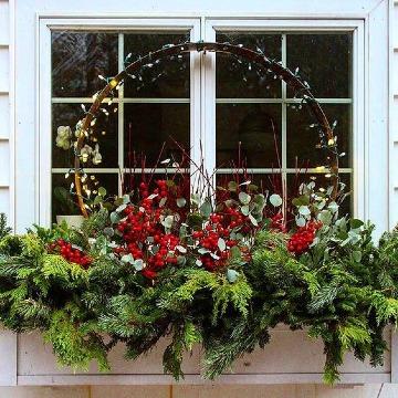 arreglos navideños para ventanas exterior