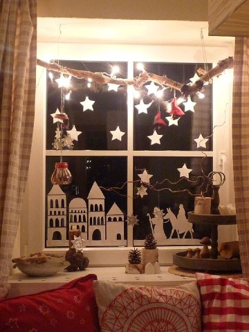 arreglos navideños para ventanas interior