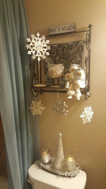 baños decorados de navidad sencillos