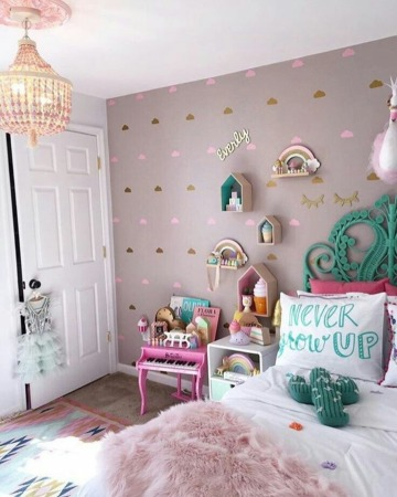 bonitos cuartos decorados para niñas