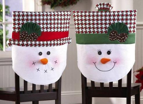 como hacer adornos para sillas de navidad