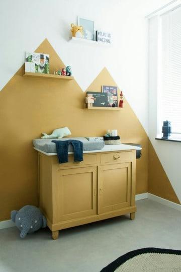 cuartos pintados de dos colores para niños