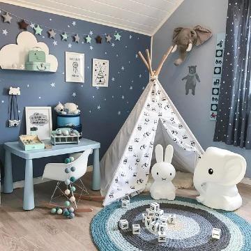 decoracion con colores para cuartos de niños