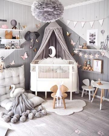decoracion de cuarto de bebe moderno