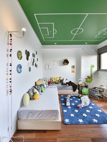 Ejemplos en la decoracion de cuartos de niños modernos