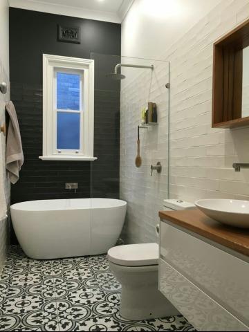 elegantes baños pequeños con tina
