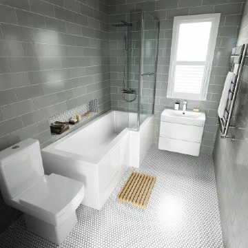fotos de baños pequeños con tina