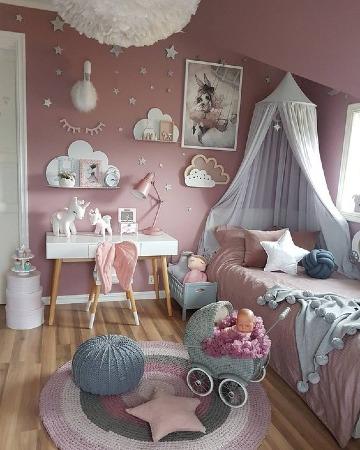 fotos de cuartos de niñas decorados