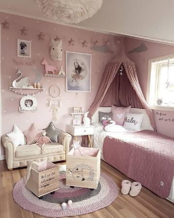 fotos de cuartos de niñas modernos