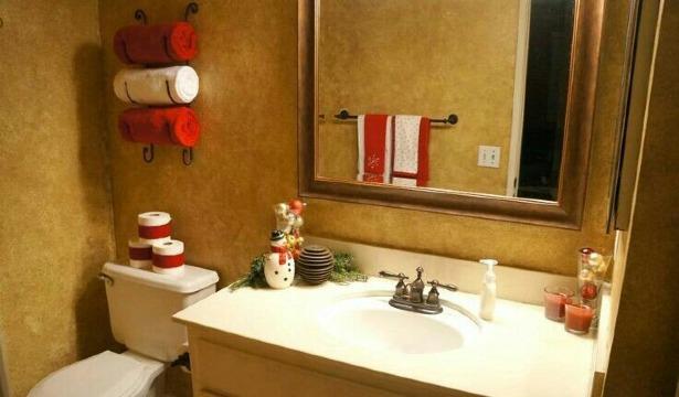 ideas de baños decorados de navidad