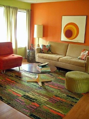 Gran decoracion basada en colores para salas y comedores