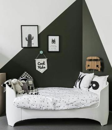 ideas de cuartos pintados de dos colores