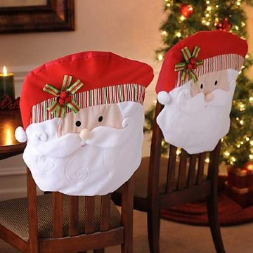 imagenes de adornos para sillas de navidad