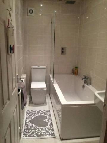 imagenes de baños pequeños con tina
