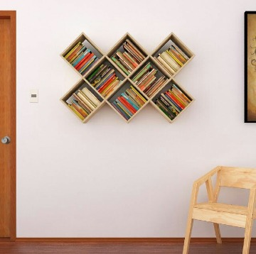 imsgenes de repisas de madera para libros
