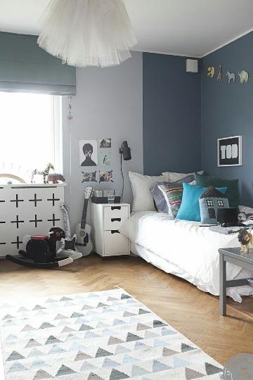 modelos de cuartos pintados de dos colores