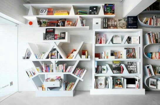 modelos de estantes para libros creativos