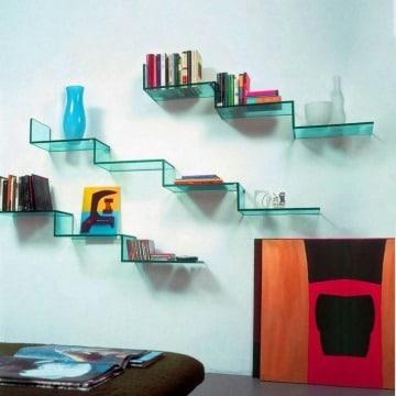 modelos de estantes para libros modernos