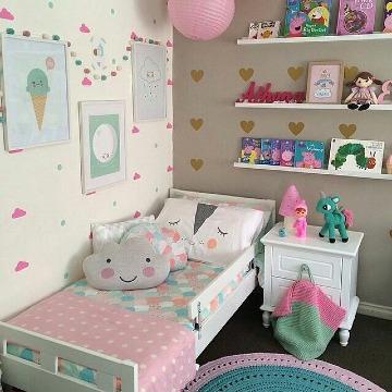 pequeños cuartos decorados para niñas